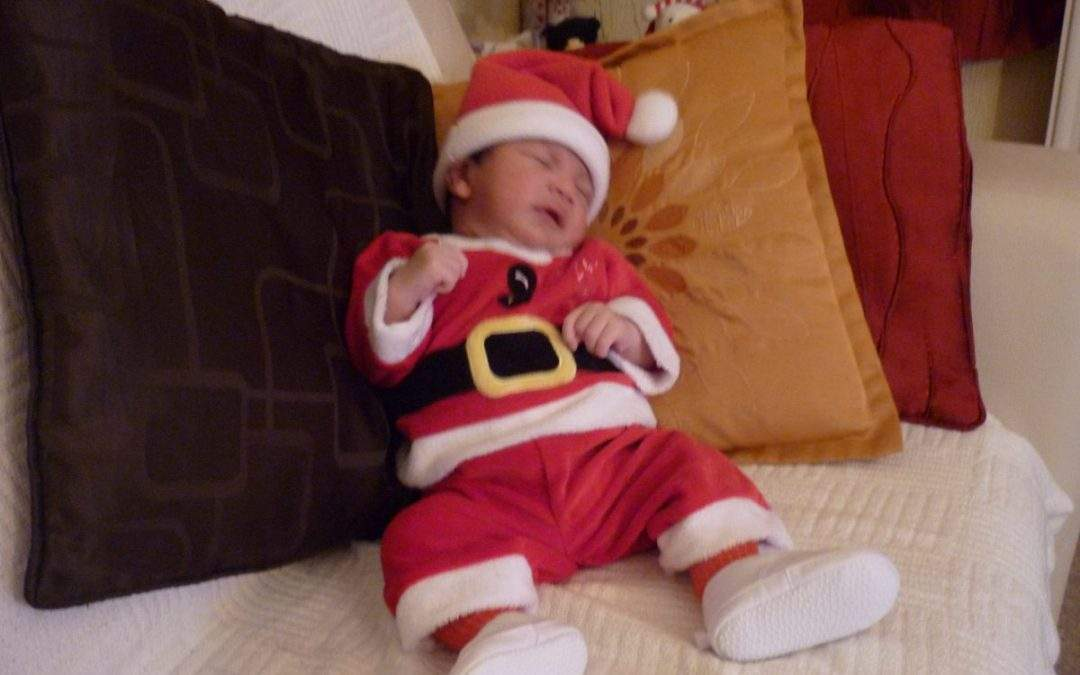 Baby fancy dress at Christmas
