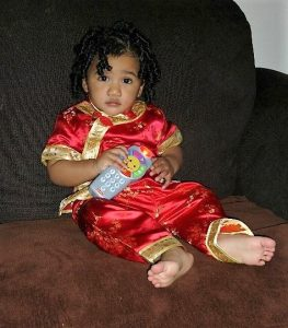 curly hair toddler girl