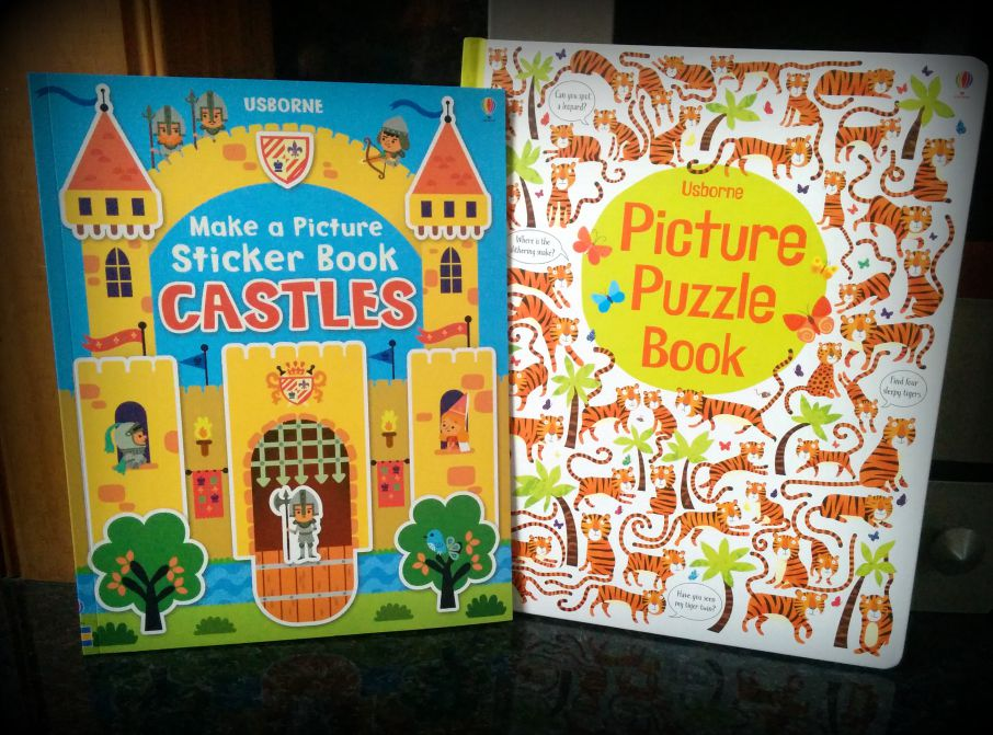 Puzzle and sticker fun with Usborne Books