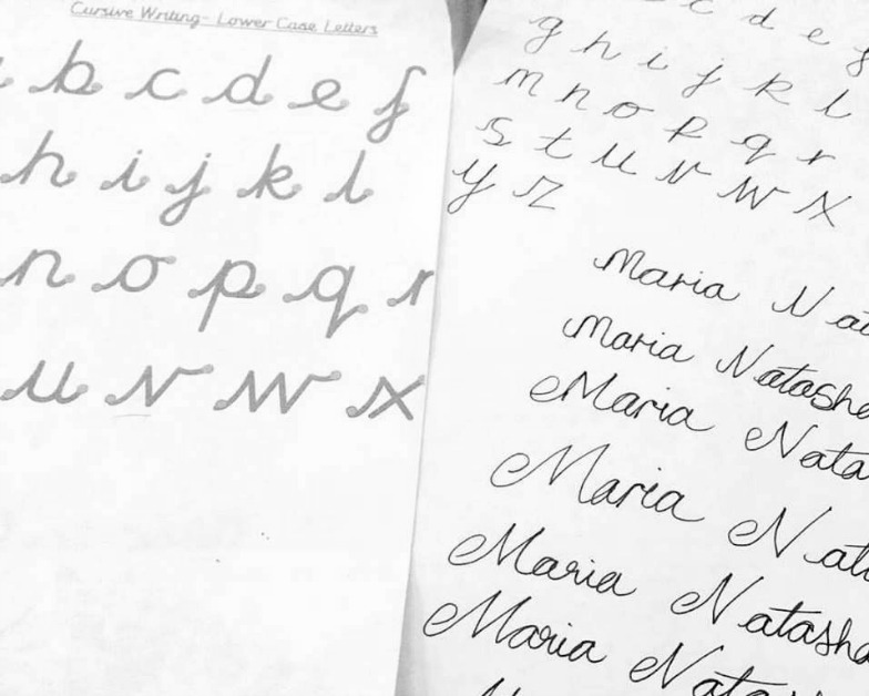 On Penmanship and Cursive Writing