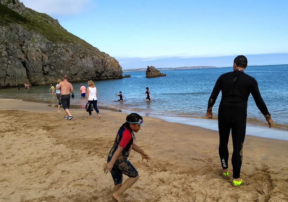 Social Distancing And Staying Safe On The Seaside