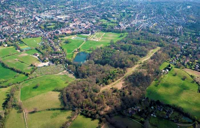 Priory park Aerial View