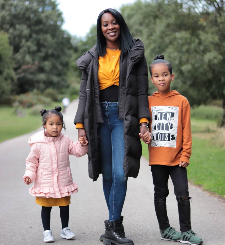 Adalaine with kids